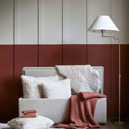 Tussock Sheepskin Collection in Eloise Footstool Storage