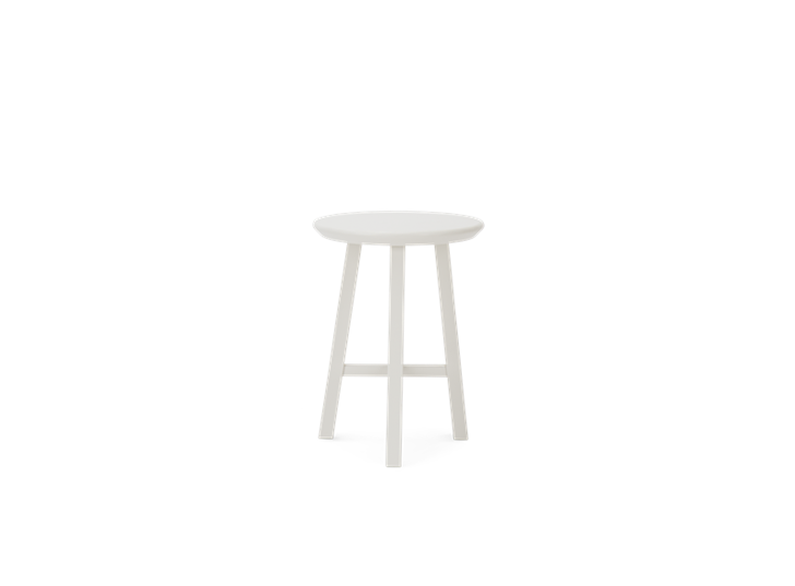 Northwich Painted Stool Silver Birch_Front