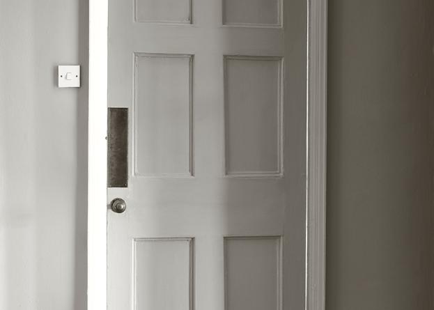 Door painted in Neptune Dove Grey