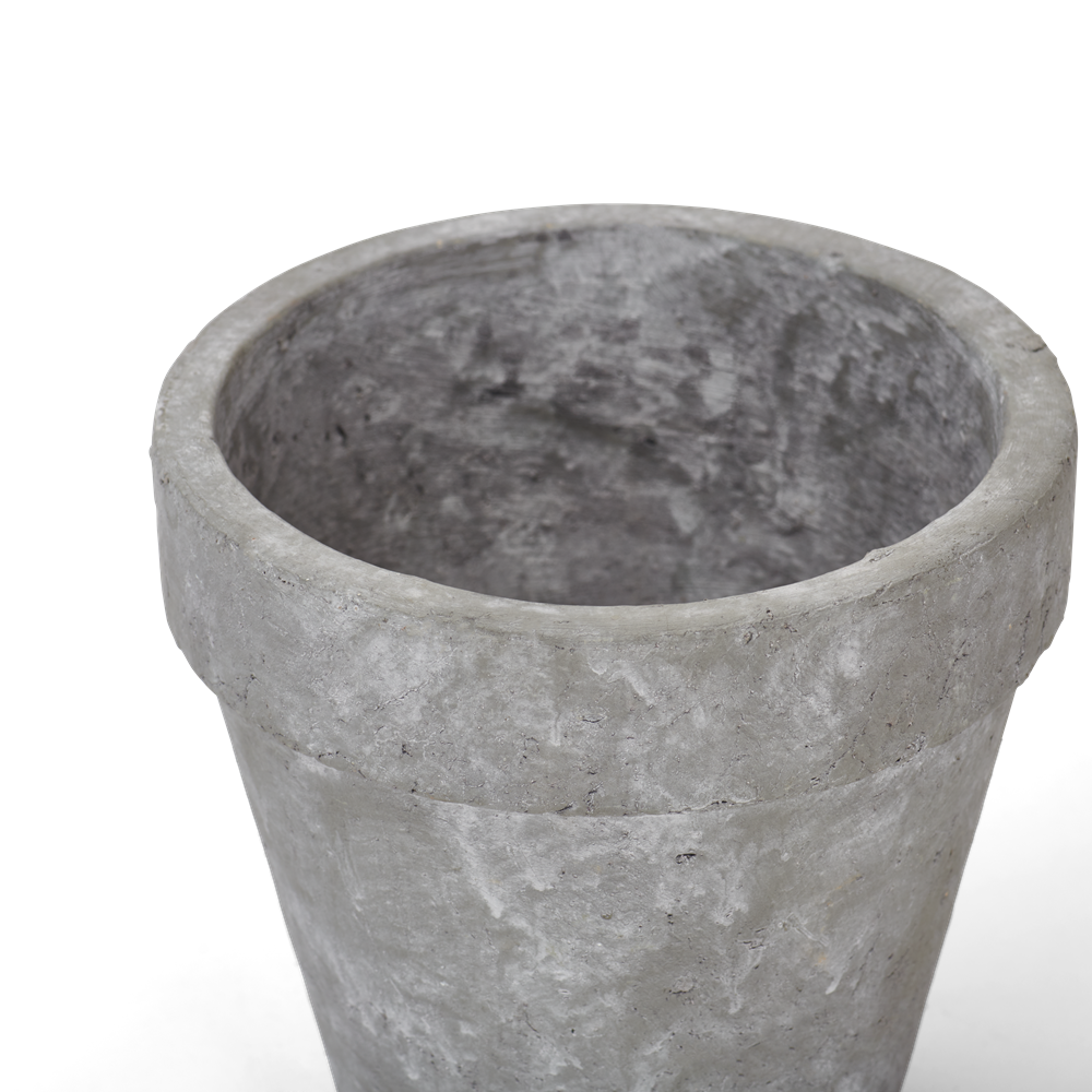 Tarragon Pot Large Pale Cement Detail