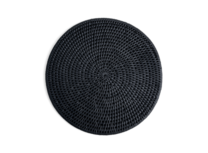 Ashcroft Round Placemat Set of 6 Charcoal_Top