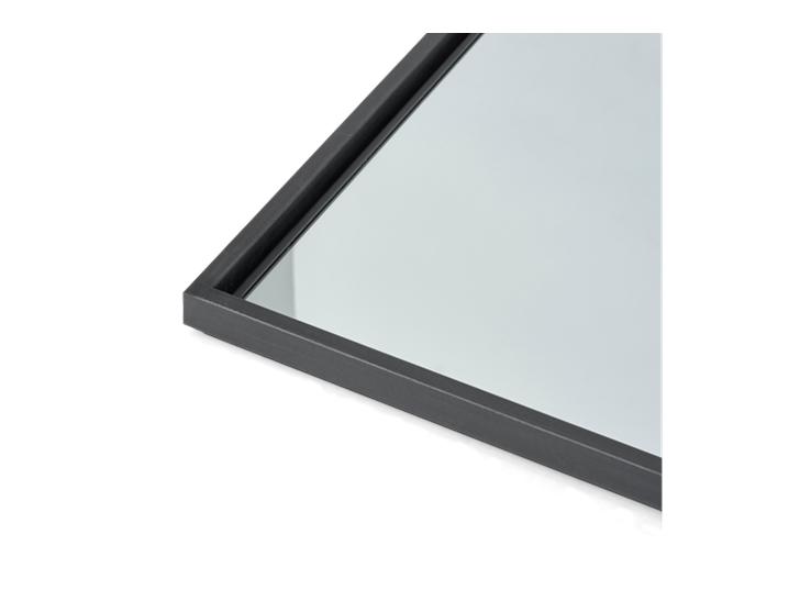 Carter 194 Retangular Mirror - Black Steel 4
