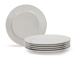 Sutton Dinner Plate, Off White, set of 6