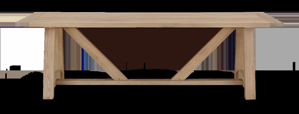 Arundel 245 Rectangular Table_Natural Oak_Front