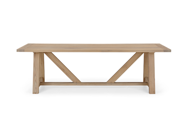 Arundel 245 Rectangular Table_Natural Oak_Front