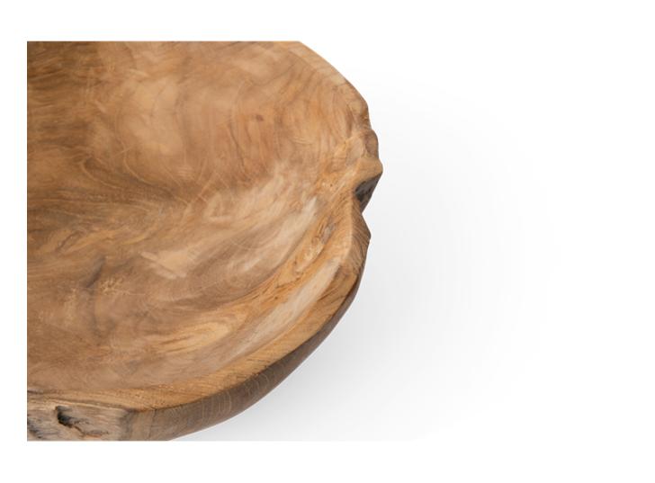 Stanton teak round bowl, Medium, rim