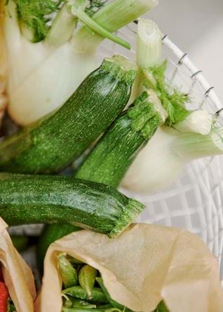 Courgette and fennel