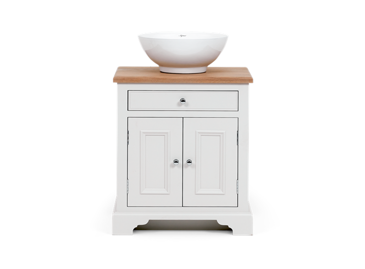 Chichester 640 Oak Countertop Washstand -Shell-Shell Front
