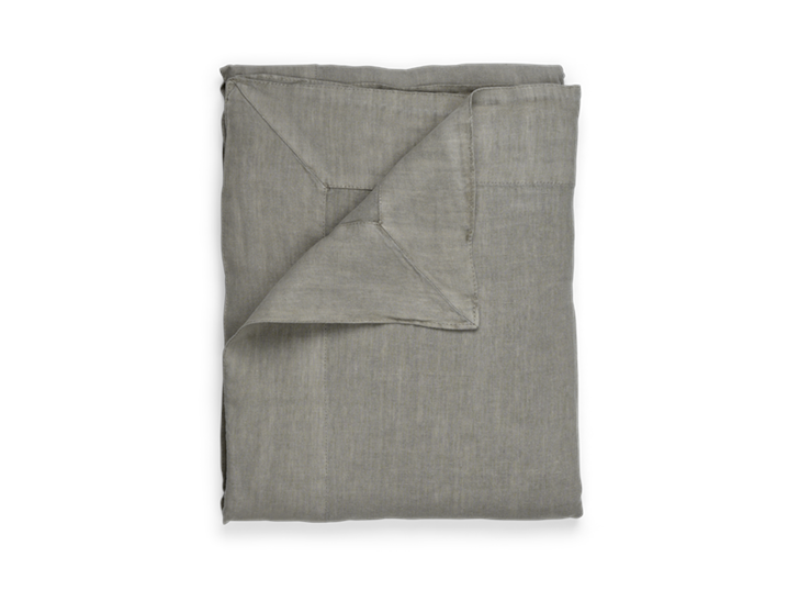 Emily Linen Tablecloth Mist_Top Folded