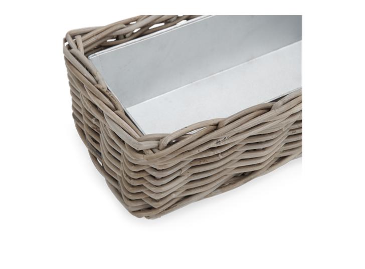 Littleton Rectangular Zinc Lined Basket