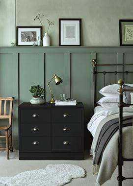 Chawton Bedroom Side Table Ink