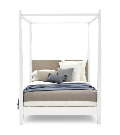 Wardley King Four Poster Snow Holkam Sand Styled Front