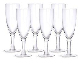 Barnes Champagne Flutes, set of 6