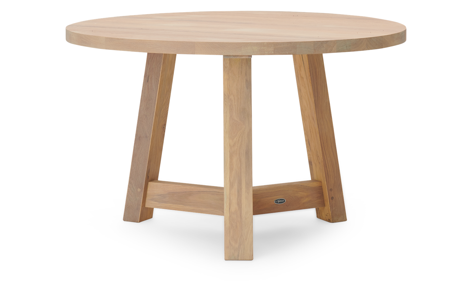 Arundel Round 4 Seater Light Oak Dining Table Neptune