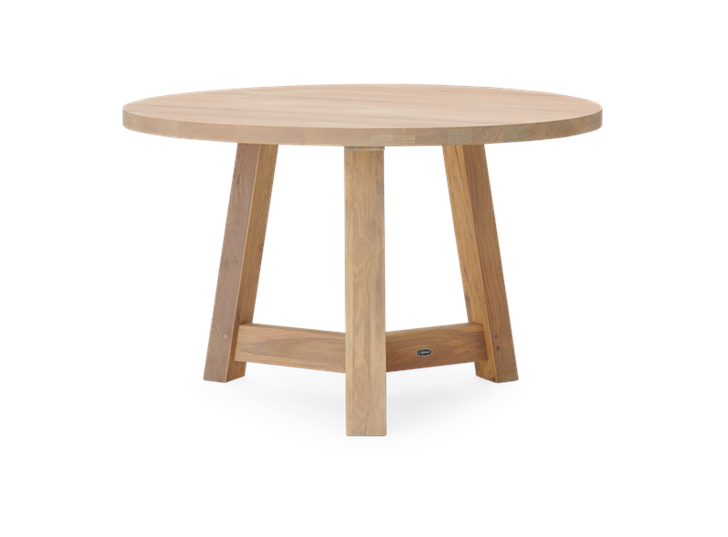 Arundel 120 Round Table Natural Oak_Front