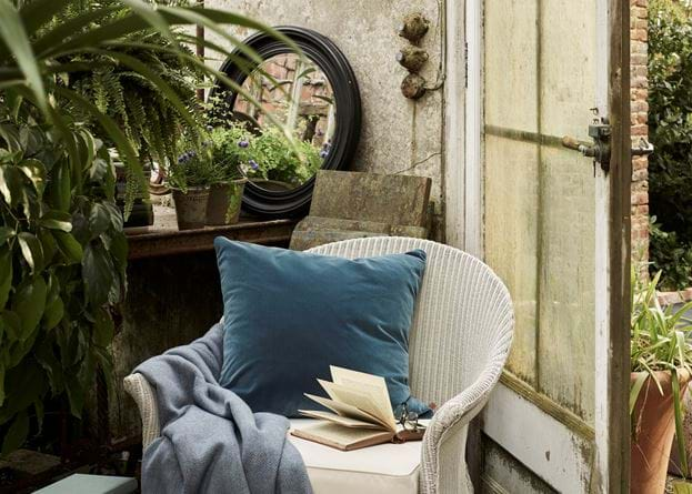 Grace scatter cushion on garden chair