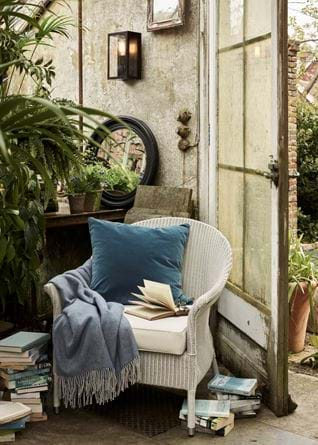 Chatto armchair in greenhouse