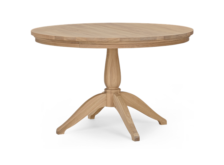 Henley 120 Round Table_Oak_3Quarter