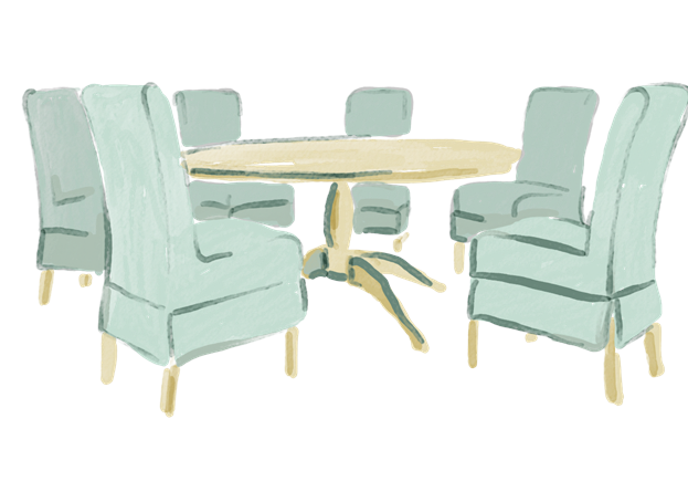 Dining illustrations - Henley table and chairs