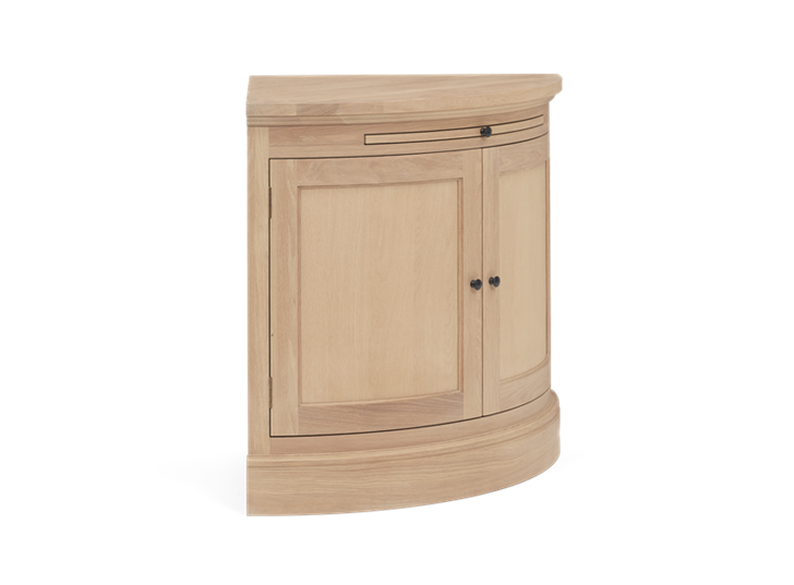 Henley Curved Oak Sideboard Side