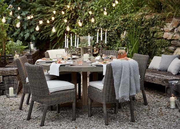 Hove Round Dining Table with Toulston Dining Chair _Garden_ Dining Al Fresco