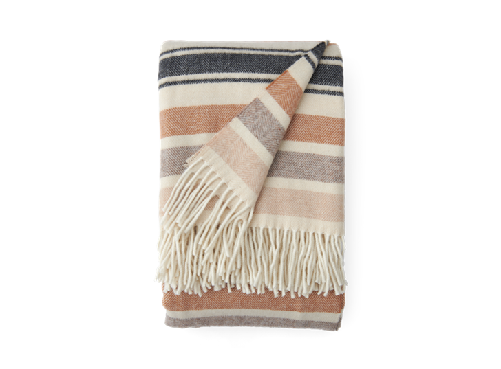 Castlefield Stripe Throw Mustard_Front