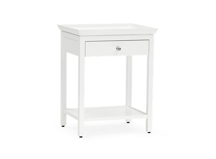 Aldwych tall side table Snow 3quarter