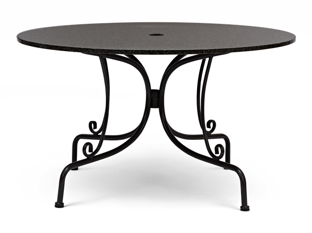 Boscombe 130 Round 6-Seater Table Black and Granite