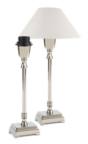 Hanover Small Lamp Nickel & Shade