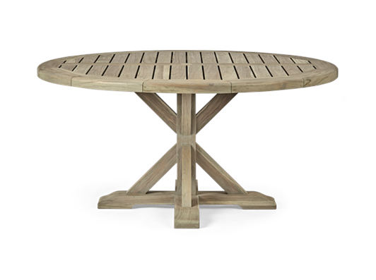 Harmondsworth 150 Round Table_Teak_Garden Furniture