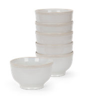 Sutton Cereal Bowl, Off White, set of 6