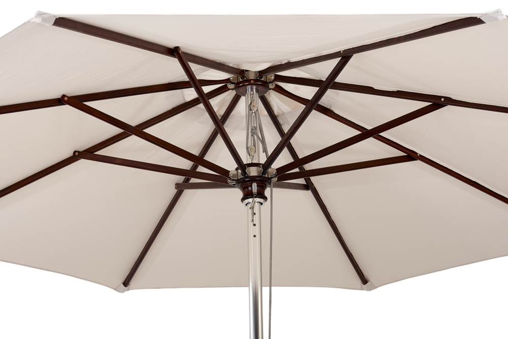 Spinnaker 3m Natural Canvas Parasol Detail
