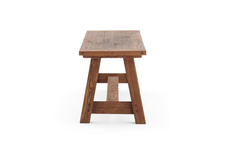 Arundel_150_bench_Brushed Oak-Side