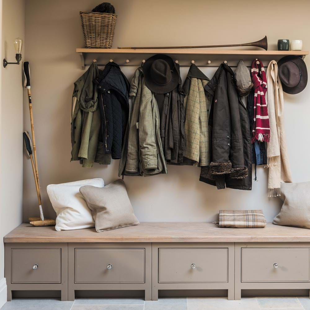 Neptune Chichester 6ft coat rack country boot room
