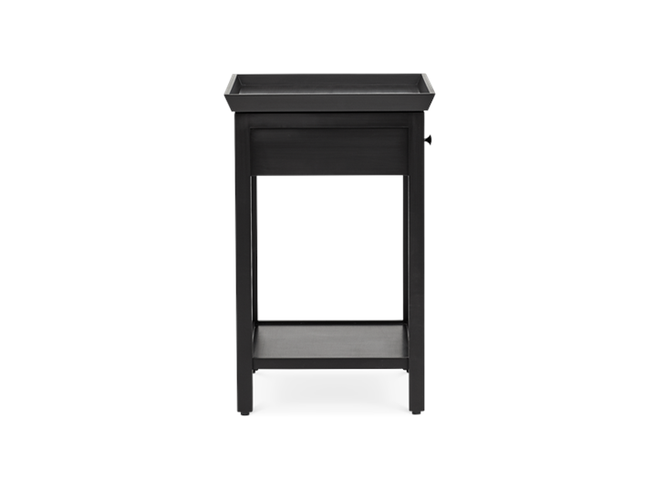 Aldwych tall side table Warm Black side