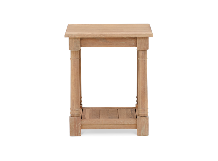 Edinburgh 42 Square Lamp Table Oak Side