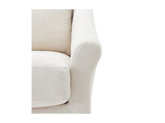 Long Island Love Seat Pale Oat_Detail 1