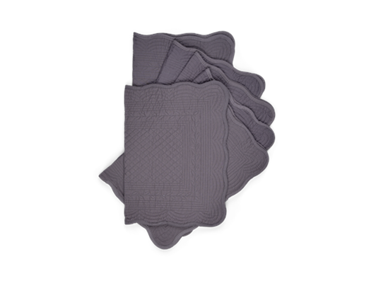 Emily Quilted Placemats Set of 6 Peat_Stack