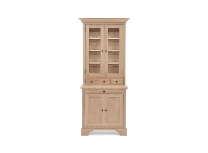 Henley 3ft Glazed Oak Dresser Top Front
