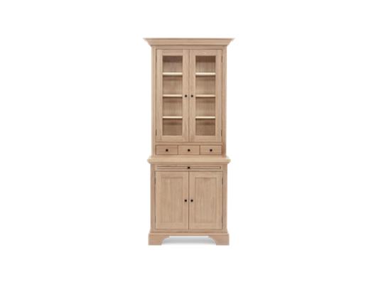 Henley 3ft Glazed Oak Dresser Top Front