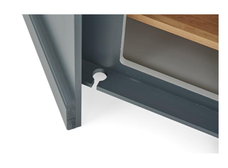 Henley 3ft 6in AV Corner Cabinet Detail 04