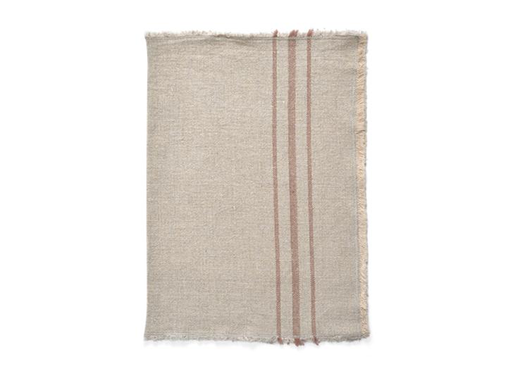 Ayla Stripe Placemat Set of 6 Apricot_Folded 1