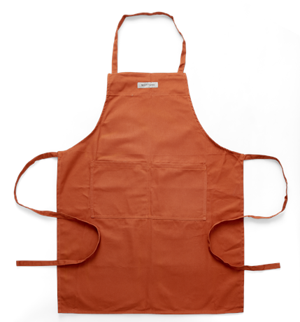 Randall apron, burnt sienna, top