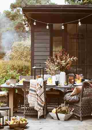 Bonfire Night Garden Dining Landscape
