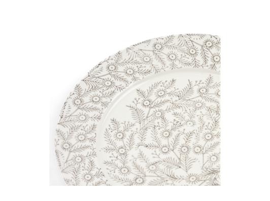 Olney Dessert Plate Set of 6 Walnut_Detail