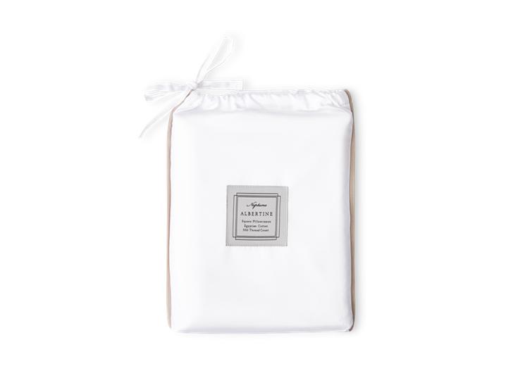 Albertine Pillowcase Grey Oak Square_Front