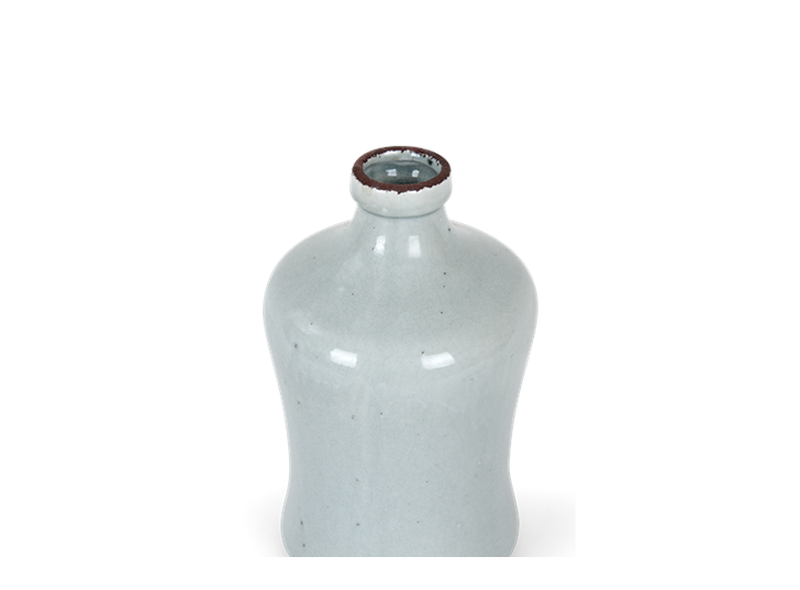 Astbury vase medium flax blue_detail