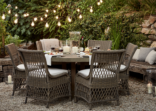 Hove Round Dining Table with Harrington Dining Chairs_Garden_Courtyard_Al Fresco Dining