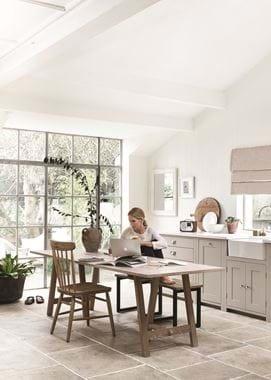 Hebden Trestle Table 230_Oak Top_Oak Legs_Home Office