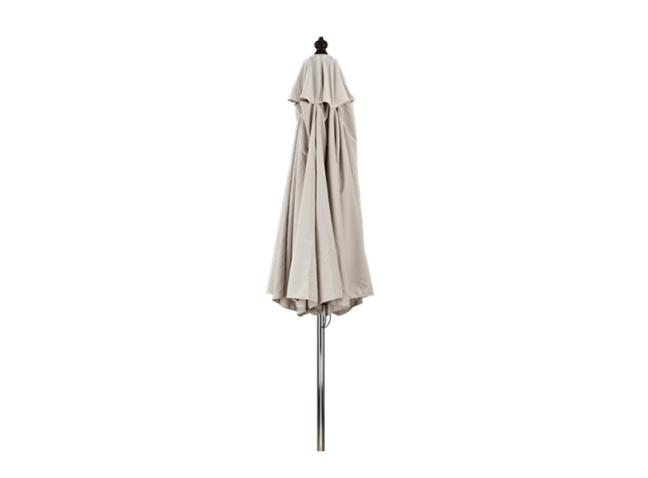 Spinnaker 3m Natural Canvas Parasol Closed
